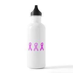 Pink Ribbon Breast Cancer Awa Water Bottle