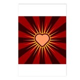 Heart Rays Square Postcards (Package of 8)