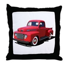 Truck farming Throw Pillow