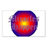 MIRACLES HAPPEN III Sticker (Rectangle)