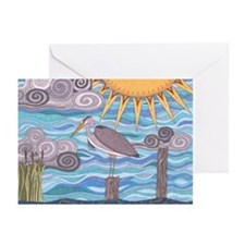 Heron's Watch Greeting Cards (Pk of 20)