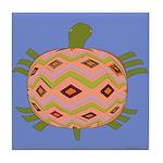 Abstract Turtle Art Tile Coaster