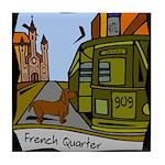 New Orleans Dachshund Art Tile Coaster
