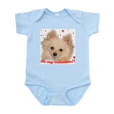 Valentine Pomeranian Infant Bodysuit