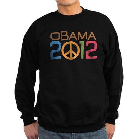 Obama 2012 Peace Sweatshirt (dark)