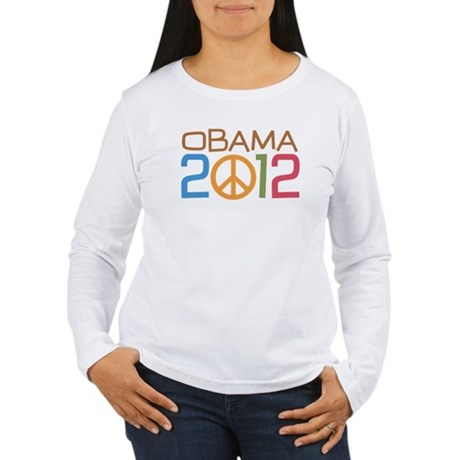 Obama 2012 Peace Women's Long Sleeve T-Shirt