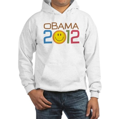 Obama 2012 Smile Hooded Sweatshirt
