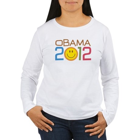 Obama 2012 Smile Women's Long Sleeve T-Shirt