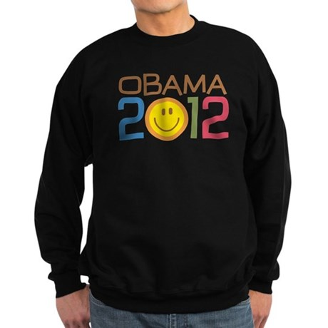 Obama 2012 Smile Sweatshirt (dark)