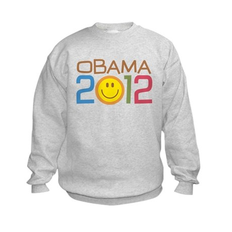 Obama 2012 Smile Kids Sweatshirt
