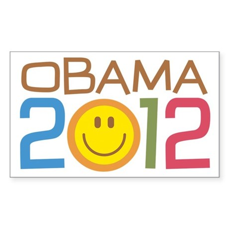 Obama 2012 Smile Sticker (Rectangle)