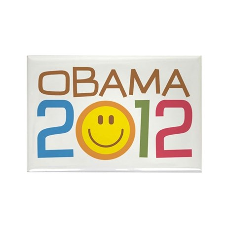Obama 2012 Smile Rectangle Magnet