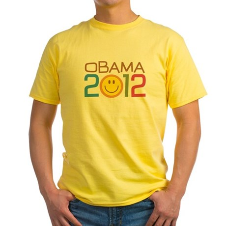 Obama 2012 Smile Yellow T-Shirt