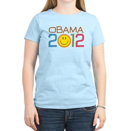 Obama 2012 Smile Women's Light T-Shirt
