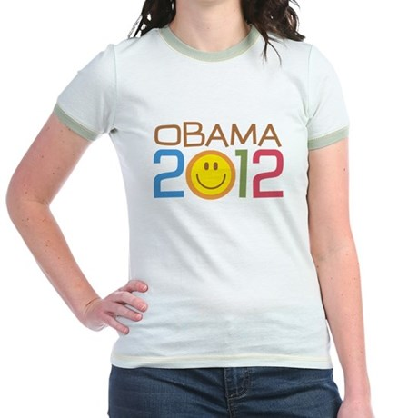 Obama 2012 Smile Jr. Ringer T-Shirt