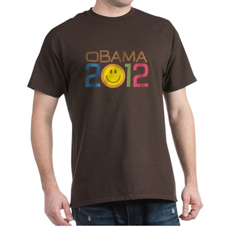 Obama 2012 Smile Dark T-Shirt