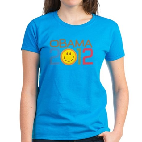 Obama 2012 Smile Women's Dark T-Shirt