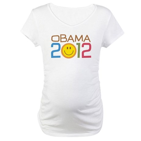 Obama 2012 Smile Maternity T-Shirt