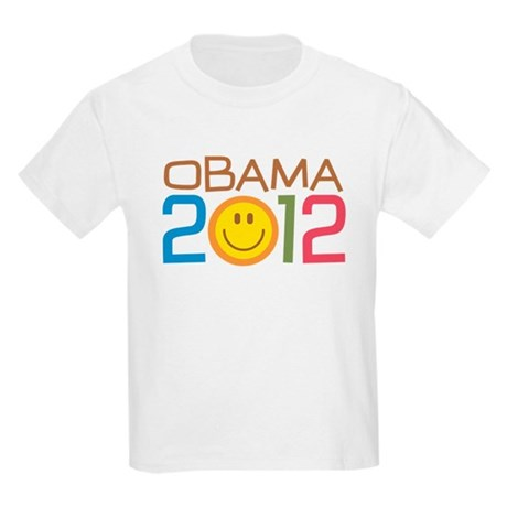 Obama 2012 Smile Kids Light T-Shirt