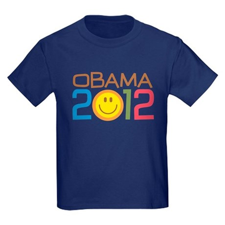 Obama 2012 Smile Kids Dark T-Shirt