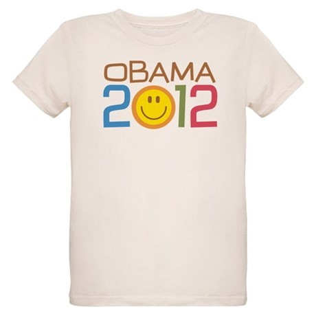 Obama 2012 Smile Organic Kids T-Shirt