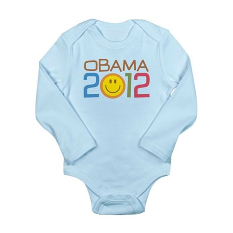 Obama 2012 Smile Long Sleeve Infant Bodysuit