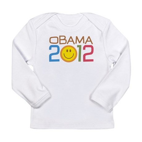 Obama 2012 Smile Long Sleeve Infant T-Shirt