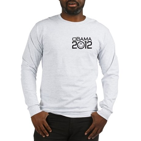 Smiley Face Obama Long Sleeve T-Shirt