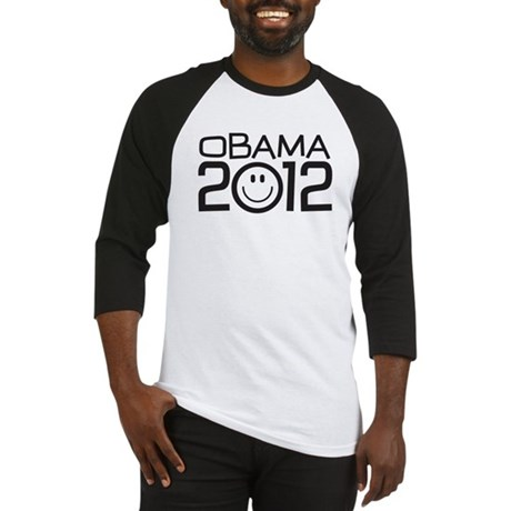Smiley Face Obama Baseball Jersey