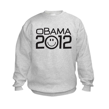 Smiley Face Obama Kids Sweatshirt