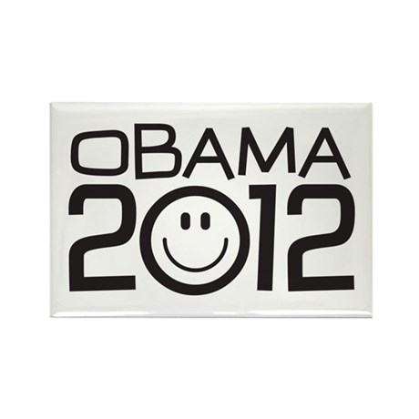 Smiley Face Obama Rectangle Magnet