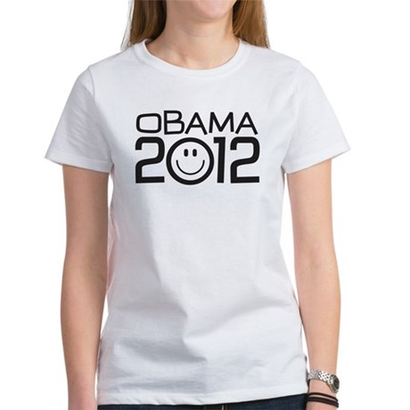 Smiley Face Obama Women's T-Shirt