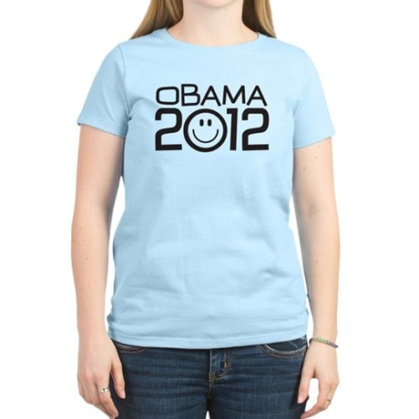 Smiley Face Obama Women's Light T-Shirt