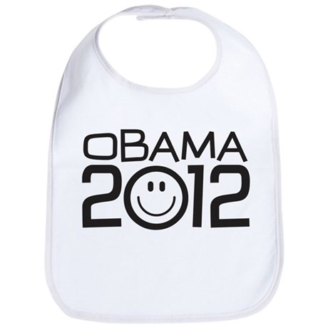 Smiley Face Obama Bib