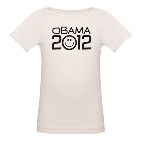 Smiley Face Obama Organic Baby T-Shirt