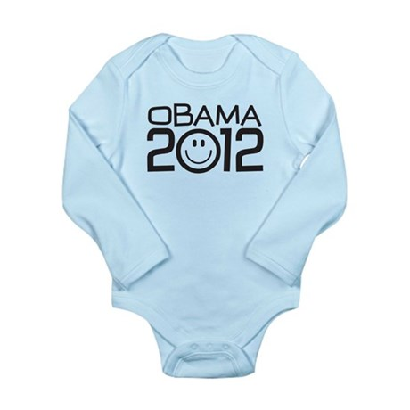 Smiley Face Obama Long Sleeve Infant Bodysuit