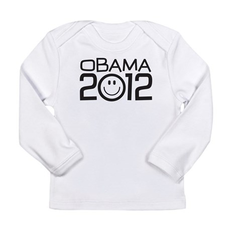 Smiley Face Obama Long Sleeve Infant T-Shirt