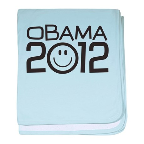 Smiley Face Obama baby blanket