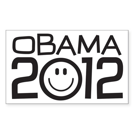 Smiley Face Obama Sticker (Rectangle)