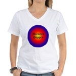 MIRACLES HAPPEN IV Women's V-Neck T-Shirt