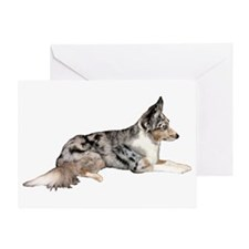 Blue Merle Greeting Card