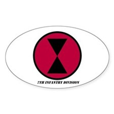 7th Infantry Division Oval Decal