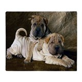 Shar Pei PupsThrow Blanket