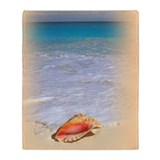 Seashell Beach Throw Blanket