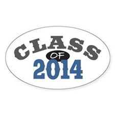 Class of 2014 Blue Decal