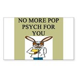 pop psych gifts and t-shirts Sticker (Rectangle 10