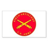 Field Artillery Plaque Rectangle Decal