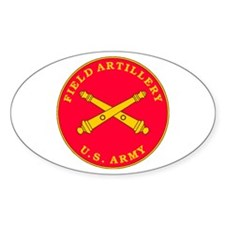 Field Artillery Plaque Oval Decal