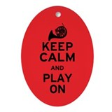 Keep Calm Horn Ornament (Oval)