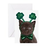 Shamrock Kitten Card